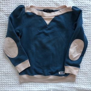 Marc Jacobs 3/4 Sleeve Athletic Look Sweatshirt